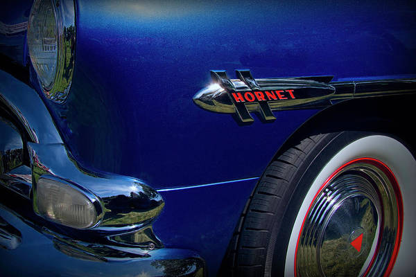 1952 Hudson Hornet Photograph - 1952 Hudson Hornet Emblem And Logo by Nick Gray