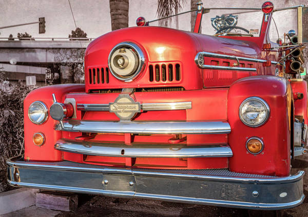 Photograph -  1952 Seagrave Fire Truck  by Gene Parks