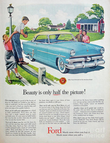 Photograph - 1953 Ford Magazine Ad by Kevin McCarthy
