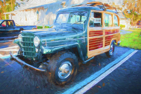 Photograph - 1953 Willys Wagon 4x4 003 by Rich Franco
