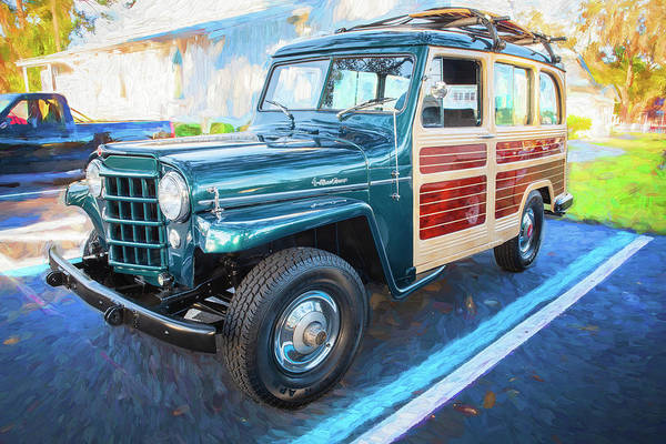 Photograph - 1953 Willys Wagon 4x4 004 by Rich Franco