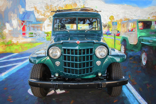 Photograph - 1953 Willys Wagon 4x4 008 by Rich Franco