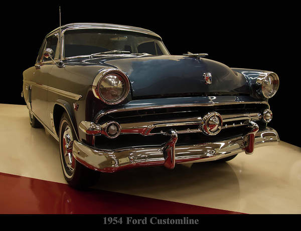 Photograph - 1954 Ford Customline Coupe by Chris Flees