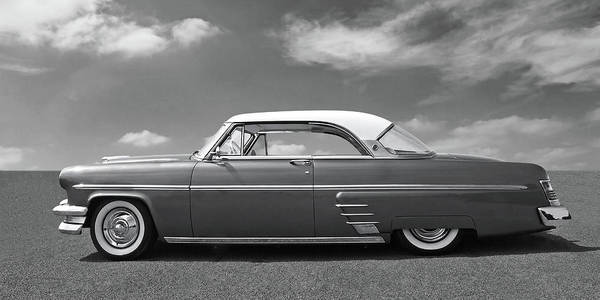 Photograph - 1954 Ford Mercury Monterey Black And White by Gill Billington