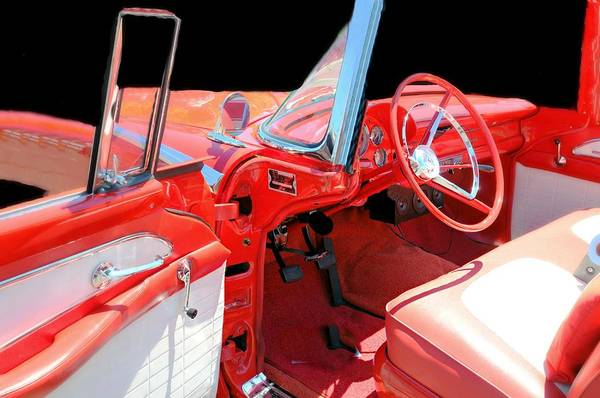 Wall Art - Photograph - 1954 Ford Sunliner Interior by Diana Angstadt
