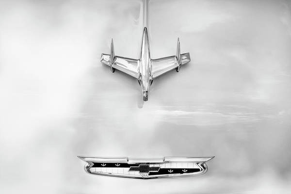 Dual Exhaust Photograph - 1955 Chevrolet Bel Air A017 by Rich Franco