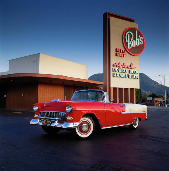 American Culture Photograph - 1955 Chevrolet Bel Air Convertible At by Car Culture