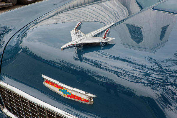 Photograph - 1955 Chevrolet Bel Air Nomad Station Wagon 202 by Rich Franco
