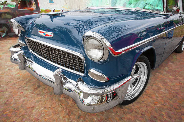 Photograph - 1955 Chevrolet Bel Air Nomad Station Wagon 203 by Rich Franco