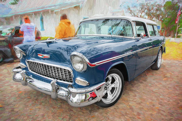Photograph - 1955 Chevrolet Bel Air Nomad Station Wagon 205 by Rich Franco
