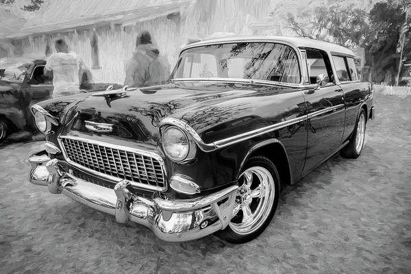 Photograph - 1955 Chevrolet Bel Air Nomad Station Wagon 206 by Rich Franco