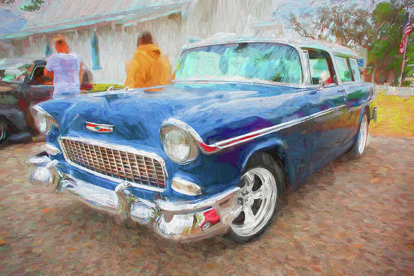 Photograph - 1955 Chevrolet Bel Air Nomad Station Wagon 207 by Rich Franco