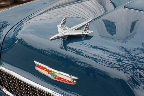 Photograph - 1955 Chevrolet Bel Air Nomad Station Wagon 209 by Rich Franco