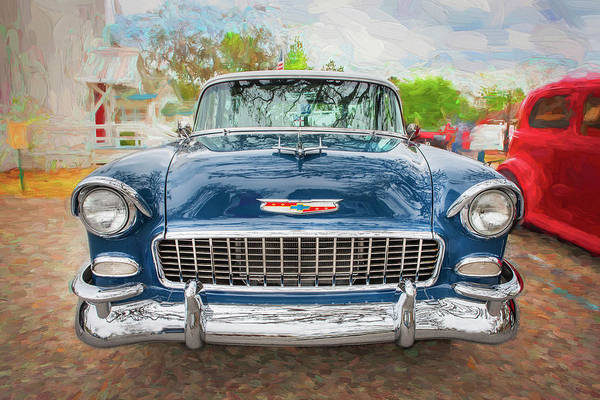 Photograph - 1955 Chevrolet Bel Air Nomad Station Wagon 211 by Rich Franco