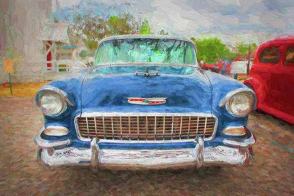 Photograph - 1955 Chevrolet Bel Air Nomad Station Wagon 212 by Rich Franco