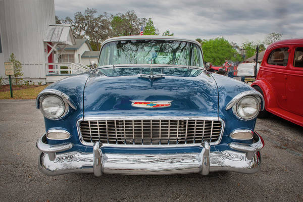 Photograph - 1955 Chevrolet Bel Air Nomad Station Wagon 213 by Rich Franco