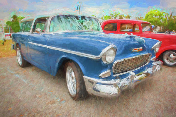 Photograph - 1955 Chevrolet Bel Air Nomad Station Wagon 214 by Rich Franco