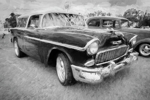 Photograph - 1955 Chevrolet Bel Air Nomad Station Wagon 215 by Rich Franco