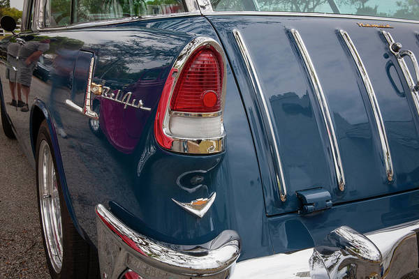 Photograph - 1955 Chevrolet Bel Air Nomad Station Wagon 218 by Rich Franco