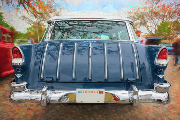 Photograph - 1955 Chevrolet Bel Air Nomad Station Wagon 219 by Rich Franco