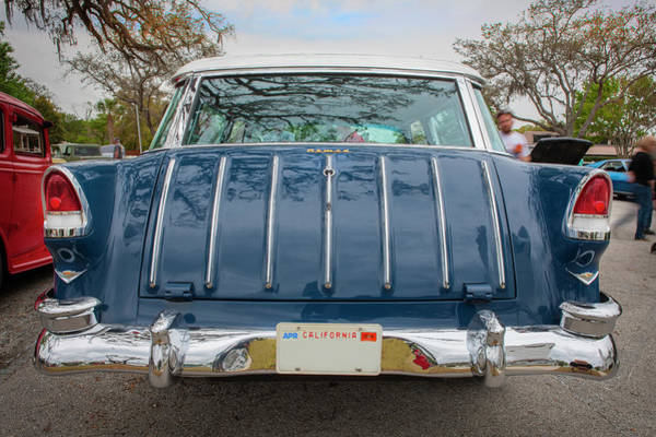 Photograph - 1955 Chevrolet Bel Air Nomad Station Wagon 222 by Rich Franco