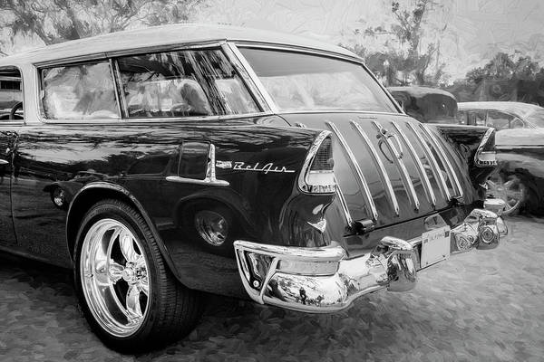 Photograph - 1955 Chevrolet Bel Air Nomad Station Wagon 2227 by Rich Franco