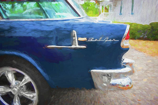 Photograph - 1955 Chevrolet Bel Air Nomad Station Wagon 224 by Rich Franco