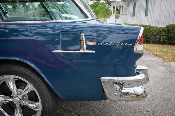 Photograph - 1955 Chevrolet Bel Air Nomad Station Wagon 225 by Rich Franco