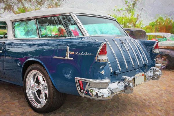 Photograph - 1955 Chevrolet Bel Air Nomad Station Wagon 226 by Rich Franco