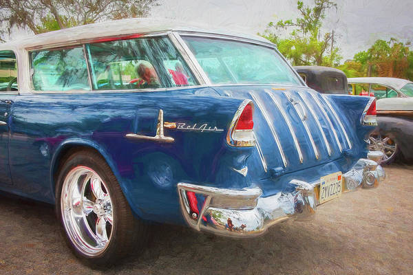 Wall Art - Photograph - 1955 Chevrolet Bel Air Nomad Station Wagon 228 by Rich Franco
