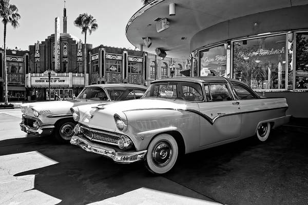 Photograph - 1955 Fairlane Crown Victoria Bw by Carlos Diaz