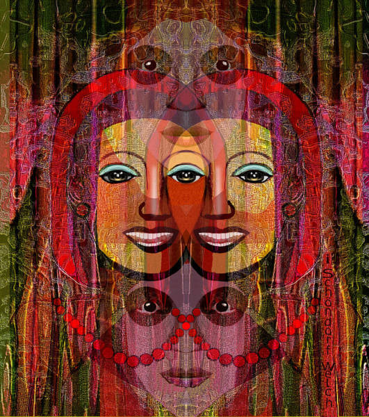 Wall Art - Digital Art - 1955  The Janus Witch by Irmgard Schoendorf Welch