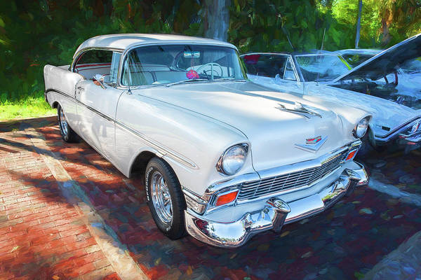 Photograph - 1956 Chevrolet Bel Air 2 Door 14a  by Rich Franco