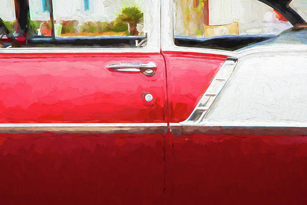 Wall Art - Photograph - 1956 Chevrolet Bel Air 210 Red 103 by Rich Franco