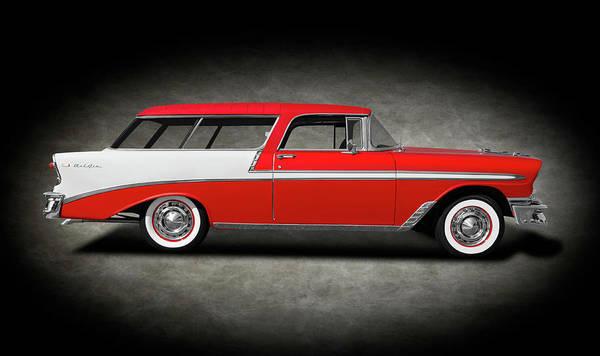 Wall Art - Photograph - 1956 Chevrolet Bel Air Nomad  -  1956chevroletnomadbelairtexture196686 by Frank J Benz