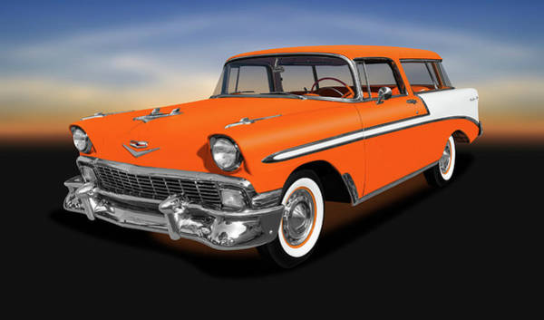 Wall Art - Photograph - 1956 Chevrolet Bel Air Nomad Wagon   -  1956chevroletnomadwagon153872 by Frank J Benz