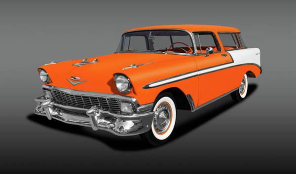 Wall Art - Photograph - 1956 Chevrolet Bel Air Nomad Wagon   -  1956chevroletnomadwagonfa153872 by Frank J Benz