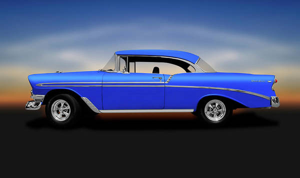 Wall Art - Photograph - 1956 Chevrolet Bel Air Sport Coupe  -  1956chevroletbelairsportcoupe140491 by Frank J Benz