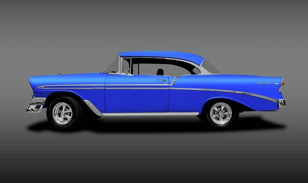 Wall Art - Photograph - 1956 Chevrolet Bel Air Sport Coupe  -  1956chevroletbelairsptcpegray140491 by Frank J Benz