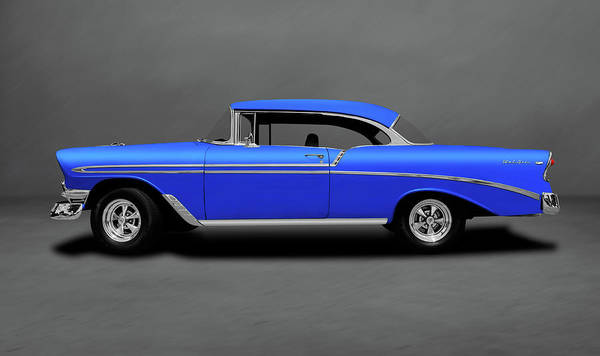 Wall Art - Photograph - 1956 Chevrolet Bel Air Sport Coupe   -  1956chevybelaircoupedblgray140491 by Frank J Benz