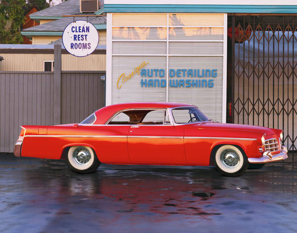 Car Wash Photograph - 1956 Chrysler 300b by Car Culture