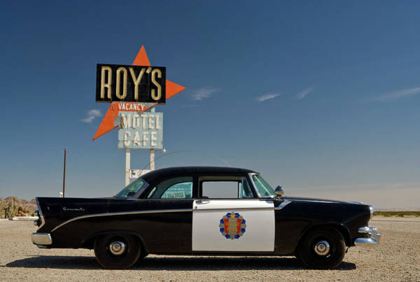 Police Force Photograph - 1956 Dodge Coronet Police Cruiser At by Witold Skrypczak