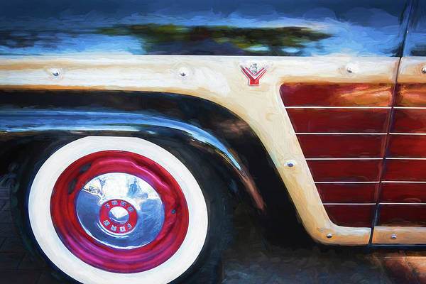 Photograph - 1956 Ford Country Squire Station Wagon Woody 101 by Rich Franco