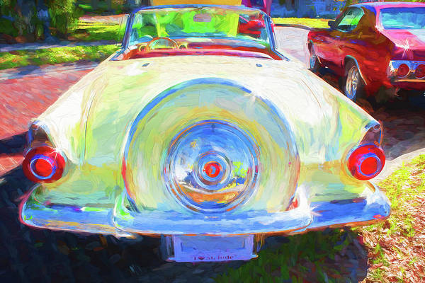 Photograph - 1956 Ford Thunderbird 019 by Rich Franco