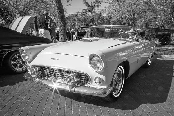 Photograph - 1956 Ford Thunderbird Bw 009 by Rich Franco