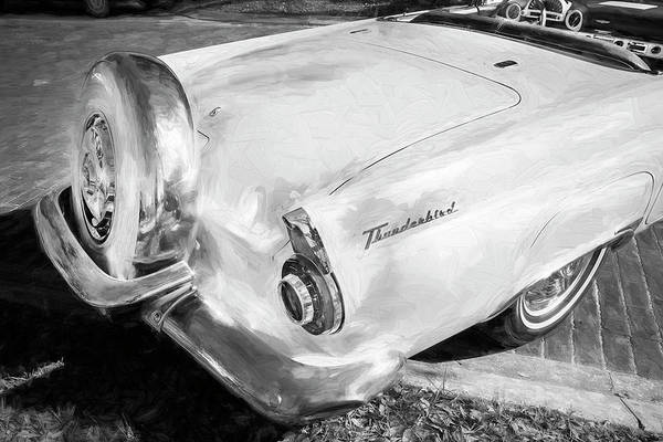 Photograph - 1956 Ford Thunderbird Bw 018 by Rich Franco
