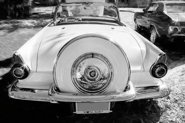 Photograph - 1956 Ford Thunderbird Bw 020 by Rich Franco