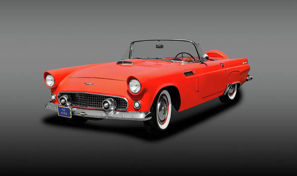 Wall Art - Photograph - 1956 Ford Thunderbird Convertible  -  1956fordtbirdconvertfine167139 by Frank J Benz