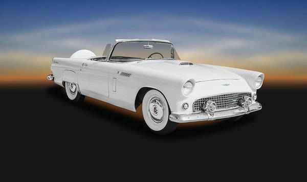 Wall Art - Photograph - 1956 Ford Thunderbird Convertible  -  1956fordthunderbirdconvertible141056 by Frank J Benz