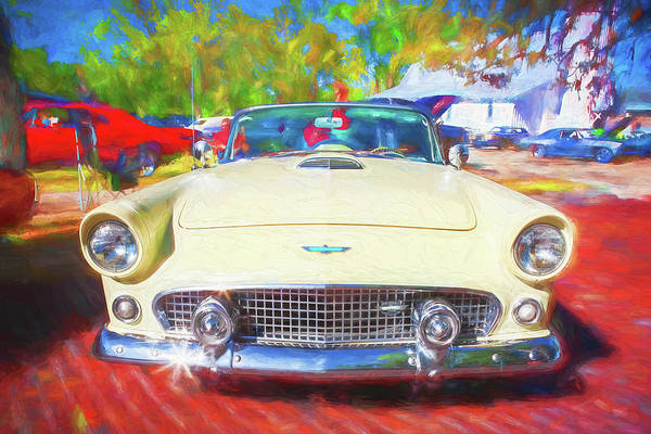 Photograph - 1956 Ford Thunderbird Painted 017 by Rich Franco